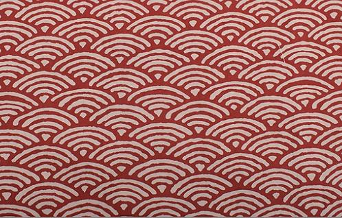Motif Japonais Rouge