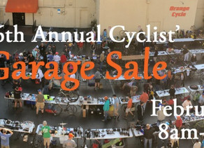 Garage Sale at Orange Cycle
