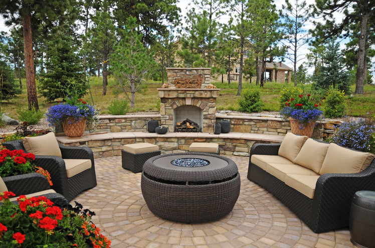 outdoor fireplace installation wake fore