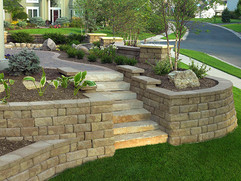 stone retaining wall design and install