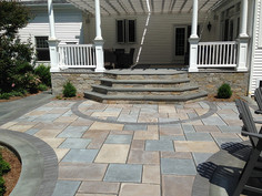 stone patio installation cheap wake fore