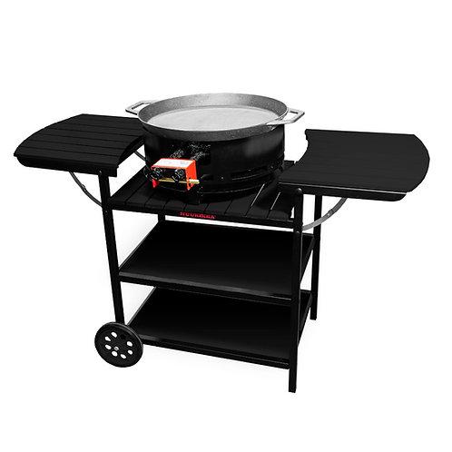 Vasaras virtuve, gāzes deglis D350, paella panna, melns
