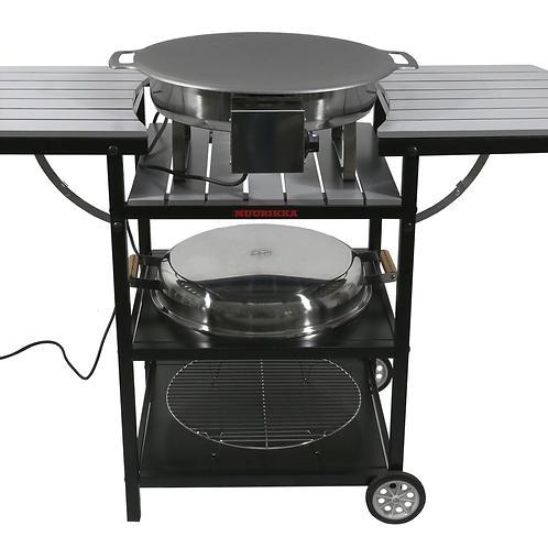 Электрическая Летняя кухня Muurikka цвет серый