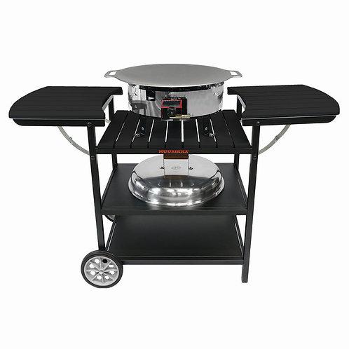Muurikka vasaras virtuve gāzes deglis D300, melns