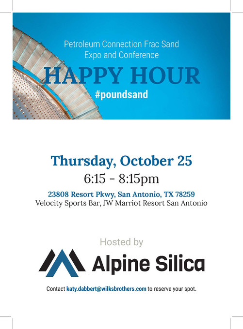 Alpine Silica Happy Hour Invite