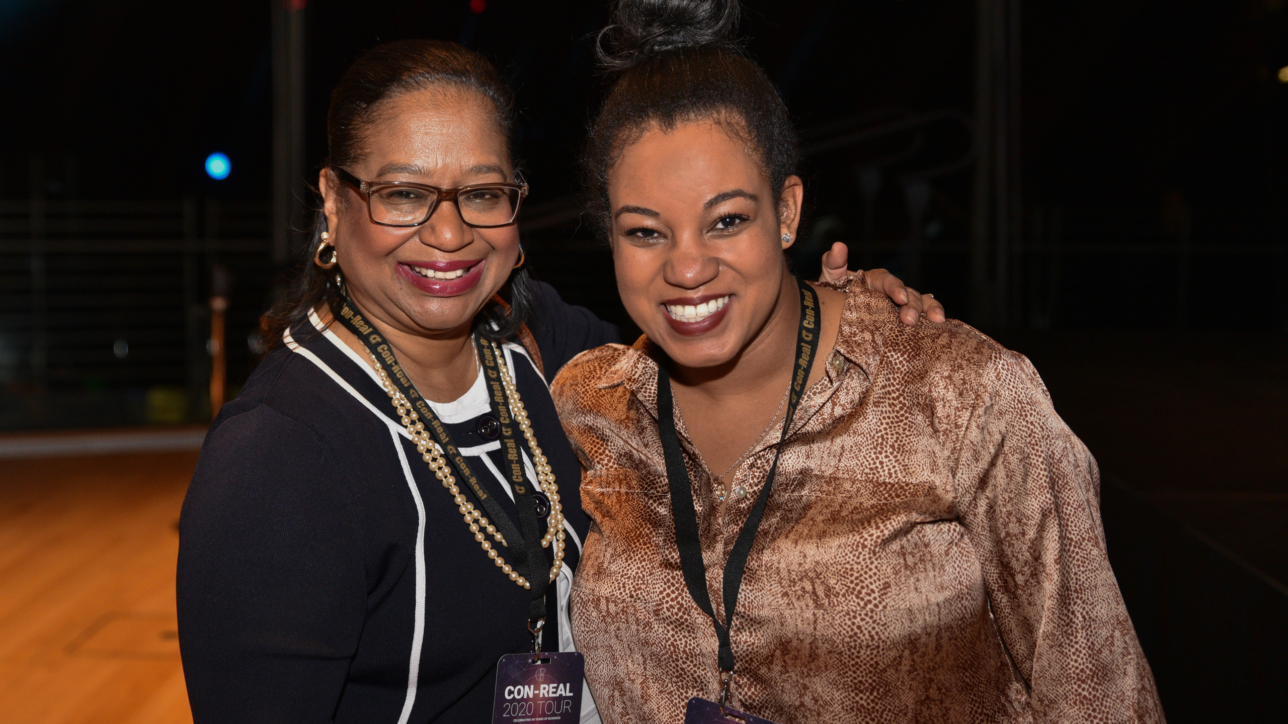 Con-Real's PR Manager Gina Alley and event attendee