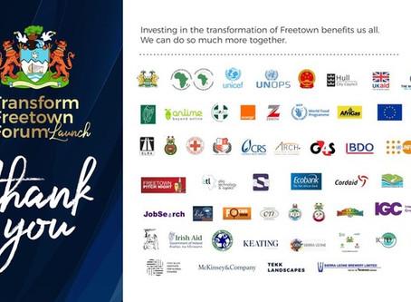 We're Working to Transform Freetown