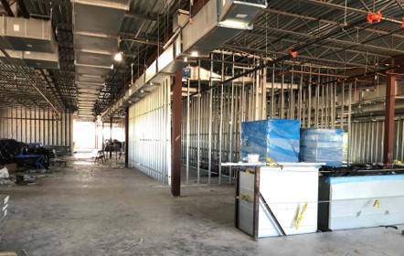 Interior of LSC Fallbrook building under construction
