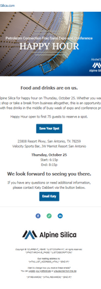 Happy Hour Email Invite