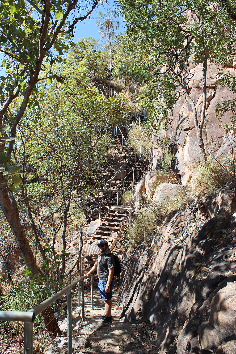 Steps up to lookout at Katherine Gorge