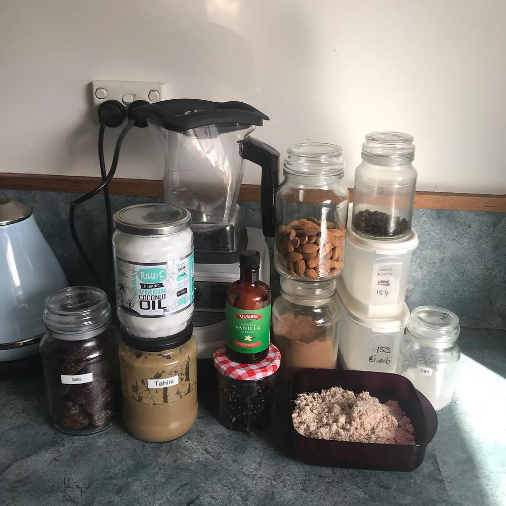 Ingredients for Black Bean Brownies