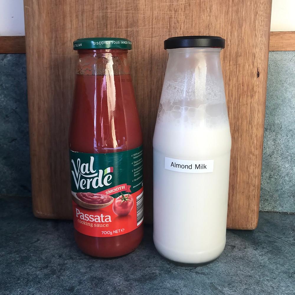 pasata jar repurposed