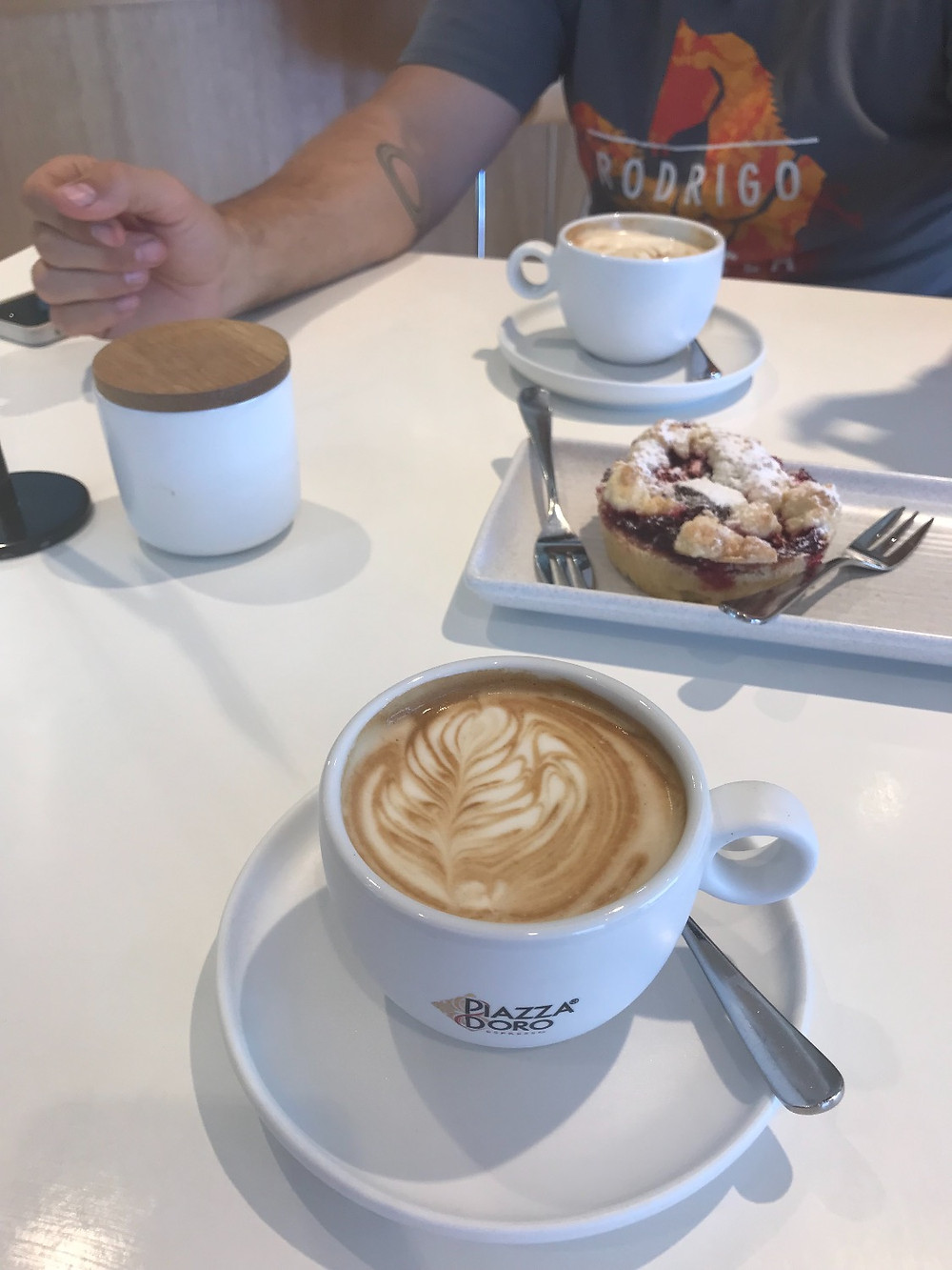Vegan friendly coffee and cake