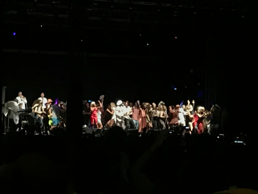 A Disco party erupted on stage to 'Good Times'