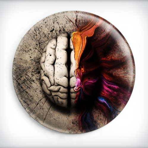 DEFACED Cancer of the Mind Badge