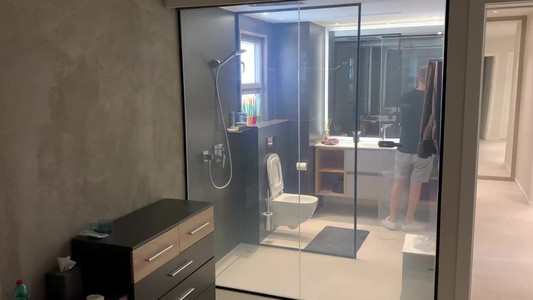 זכוכית חכמה חדר אמבטיה