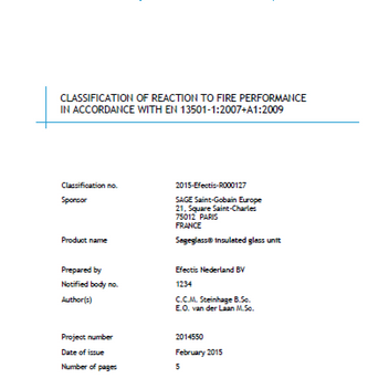 Classification of Reaction to Fire Performance