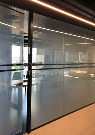 Smart glass Smart glass meeting room off