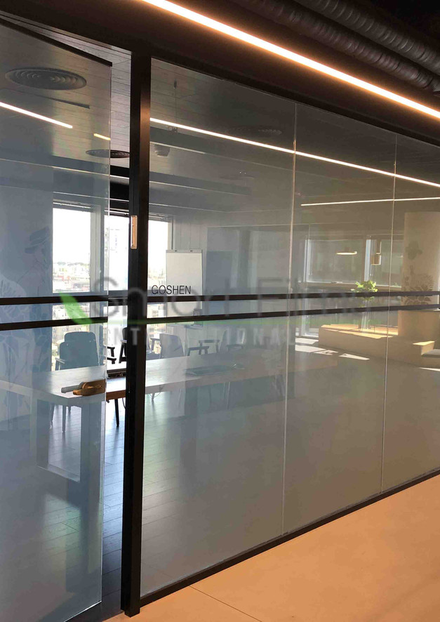 Smart glass Smart glass meeting room off