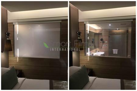 זכוכית חכמה חדר רחצה בית מלון