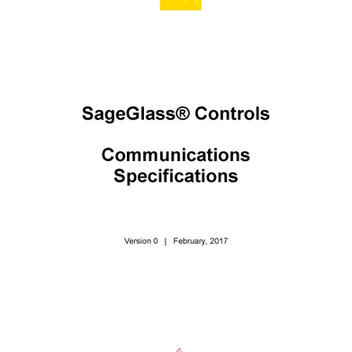 SageGlass Controls Communications Specifications