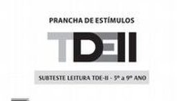 TDE II - Prancha de Estimulos Leitura 5º ao 9º ano