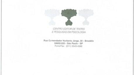 Teste Rorschach - Bloco com 25 folhas de localização