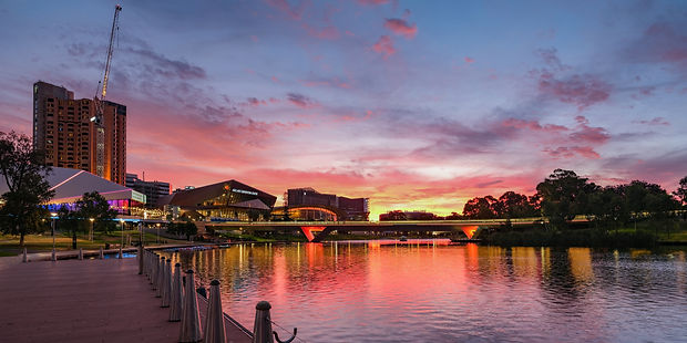 Good Evening Adelaide SA Great Torrens River Adelaide Convention Center Fineart photography Mark Gary Weston creativelightartist.com