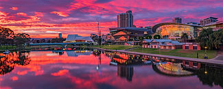 Good Morning Adelaide Cityscape SALA 2020 Adelaide convention centre Festival centre Torrens River South Australia creativelightartist Mark Gary Weston
