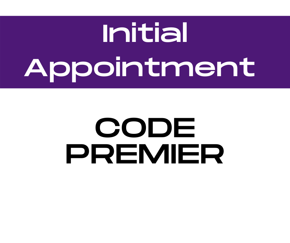 Code Premier Initial Appointment