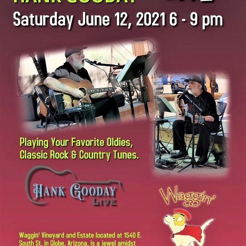 Live Guitar Music at the Vineyard - Hank Gooday (CANCELLED)