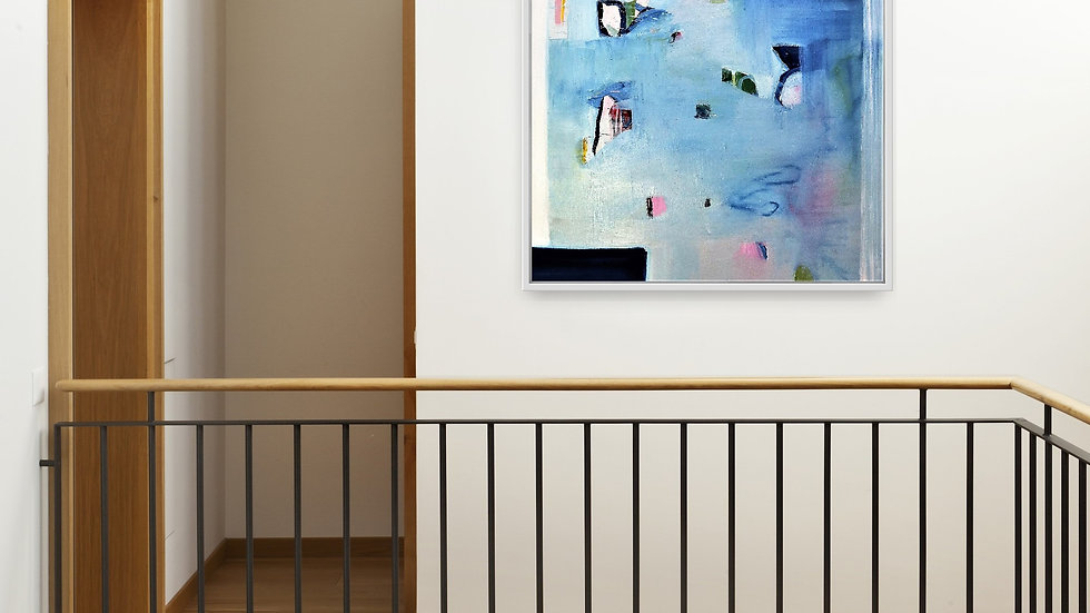 house and home, irish interiors, visual artist, abstract art, colour on canvas, home, house, modern, contemporary, visual,