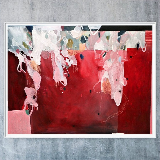 royal ritch colours, red abstract oil paint, oil painting, pink and red abstract oil painting.