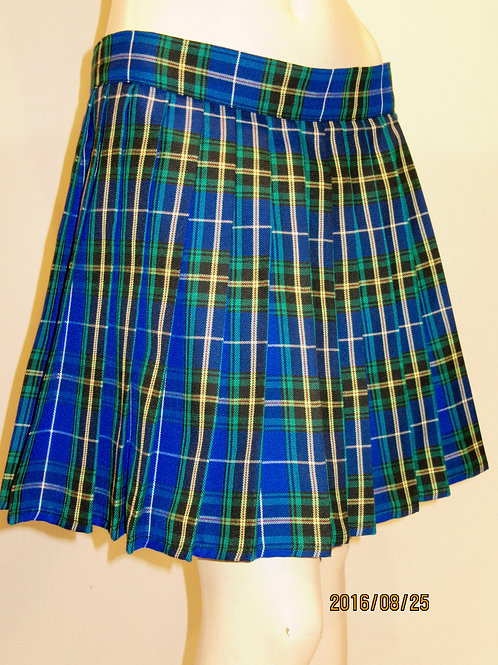 Nova Scotia Plaid Skirt~School Girl Plus Size Blue Black Plaid Skirt