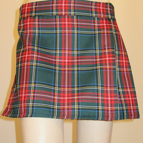 Green Stewart Mini Kilt~ Ladies Mini Green Stewart