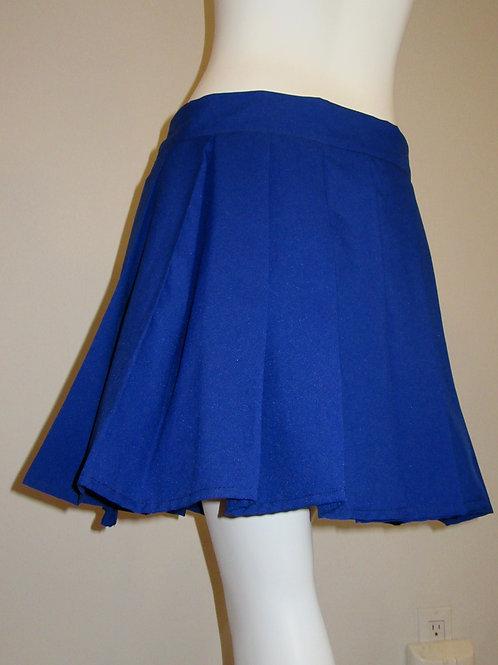Royal Blue Pleated Plaid Skirt~Plus Size Custom make skirts