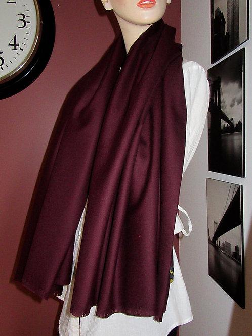Burgundy Mixed Wool BLANKET Scarf - Various Sizes