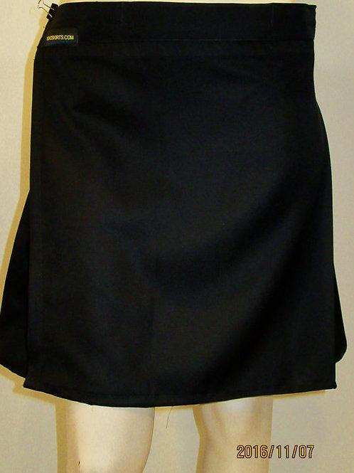 Solid Black ladies Kilt~Black Kilt For Golf Tennis