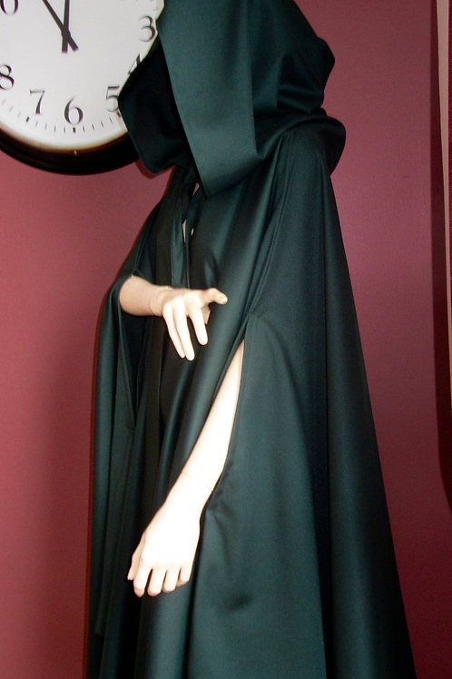 Wonder Woman Dark Green Full Circle Cloak~Wool Blend Green Color Cloak~