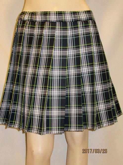 Dress Gordon Plaid Elastic Waistband Pleated Skirt~Side pocket~Plus Sz