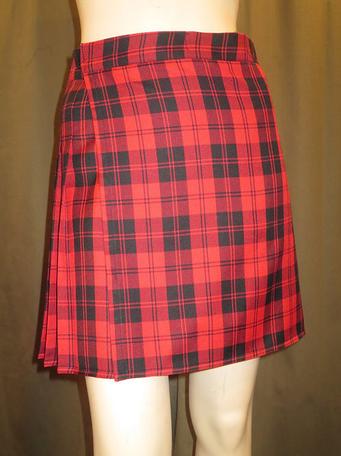 Menzies Red Tartan Plaid Kilt~ Red Black Plaid Kilt~Plus size Kilt~