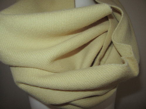 "Creme Pure Wool Infinity Scarf~52"" Long Infinity Scarf~Custom make Sc"