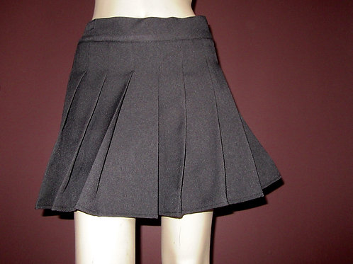 Grey Sewn Down Pleated Plaid Skirts~ Plus Size Custom make school Girl