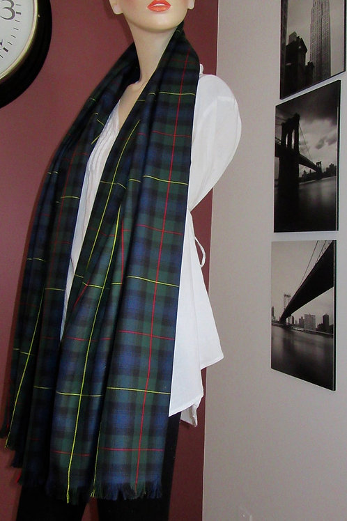 McLeod of Harris Plaid Blanket Scarf~Tartan Plaid Wrap,Shawl,Scaves, Gift Scarf