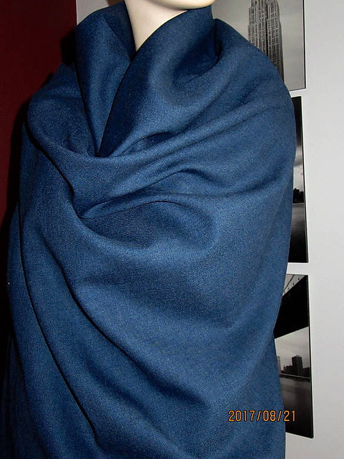 100% Blue Wool Blanket Scarf   ~ Size:  45' x50'