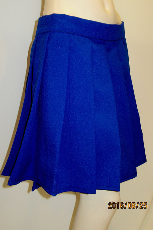 Royal Blue Plaid Pleated Plaid Skirt~ Plus Size