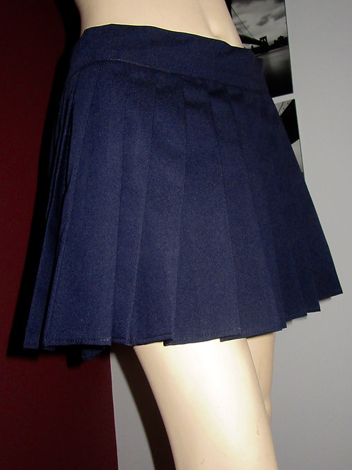 Dark Navy Pleated Mini Skirt~Plus Size Navy Blue skirts~Small to Plus sizes Mini