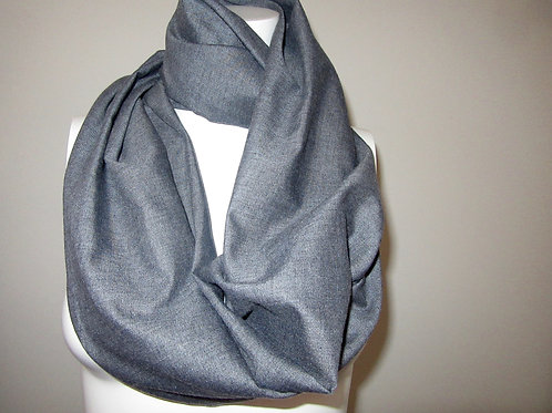 "Light Grey Color Infinity Scarf~62"" Long Infinity Scarf~Custom make Scarves"