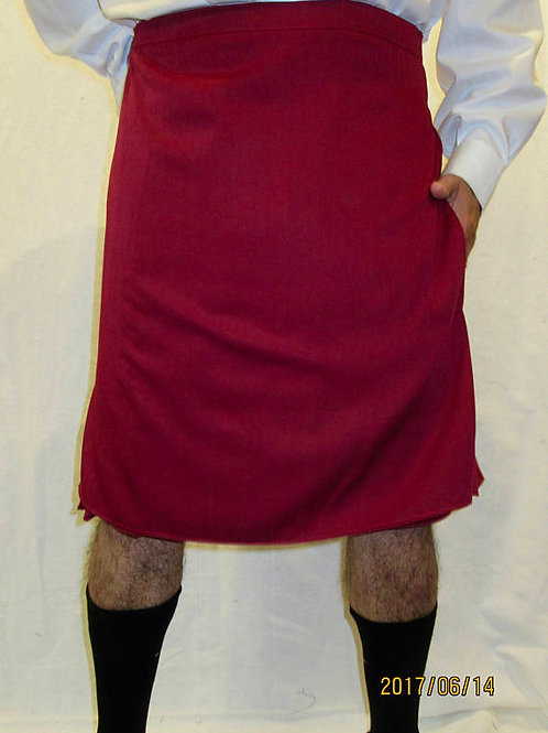 Men's Maroon Custom Made Kilt~Sport Kilts~Highland Game Plus Size Hiking Kilts~