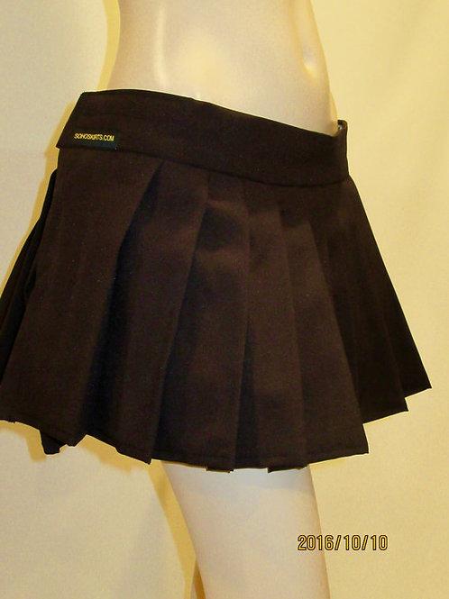 Dark Brown Pleated Mini Skirt~Plus Size Coffee brown skirts~Small to Plus sizes